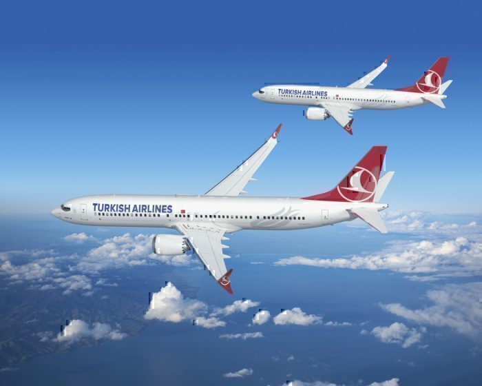 Boeing MAX aircraft with Turkish Airlines livery