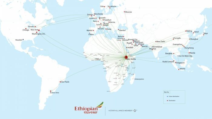 Ethiopian's current route map