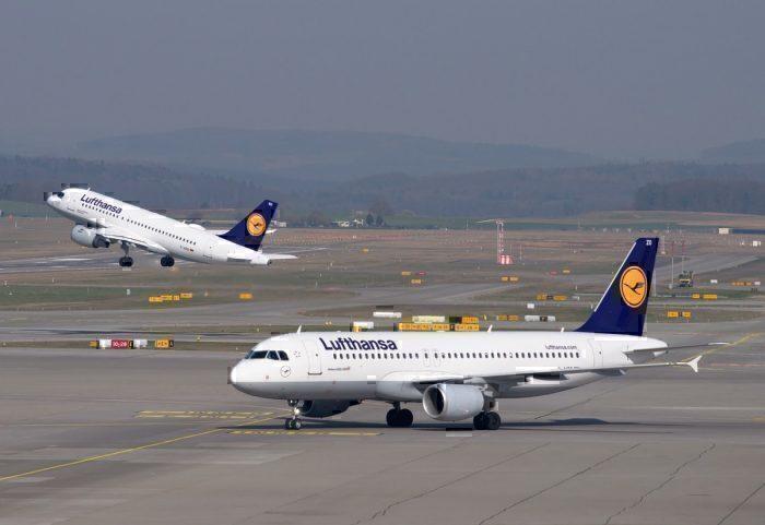 Lufthansa aircraft on runway