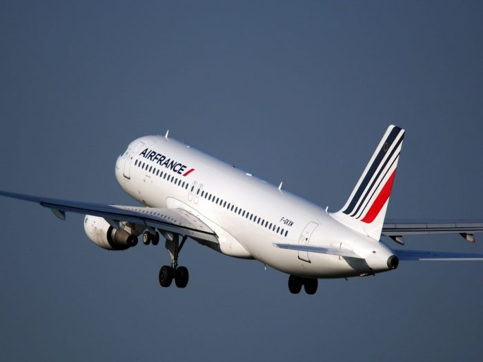 Air France, A320 in the sky