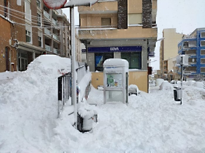 snow in the Sierra Mariola Alicante