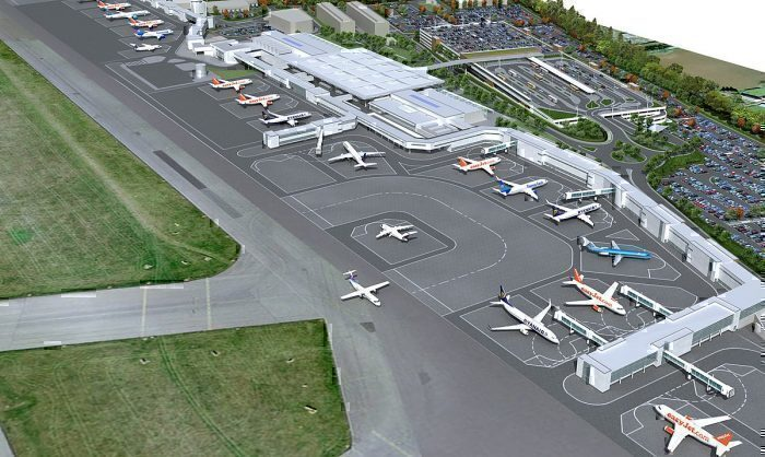 Bird's eye view of Bristol Airport
