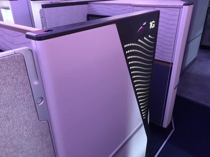 Aeroflot Business Seat 1G