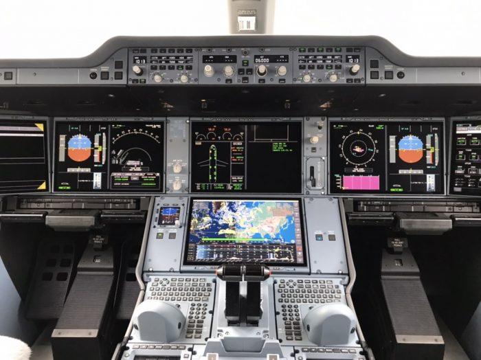 Aeroflot A350 Cockpit