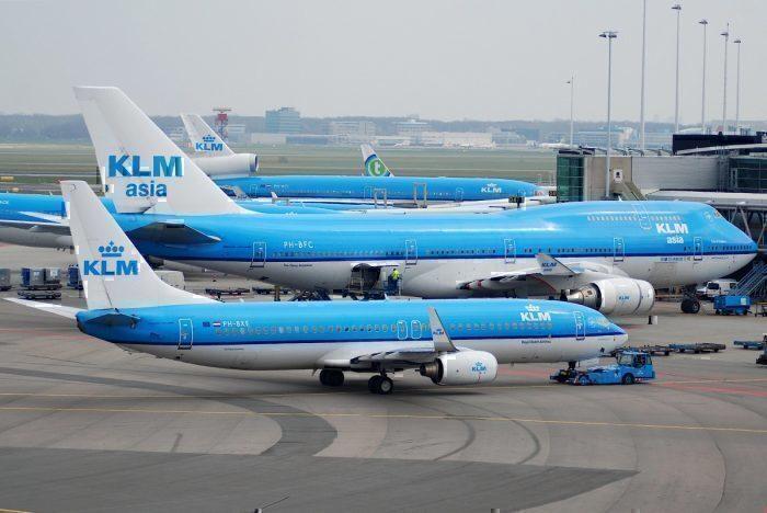 KLM Boeing fleet at airport