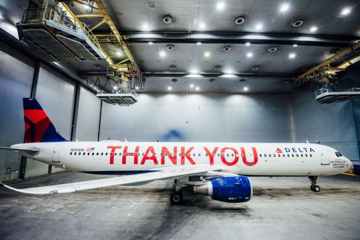 Delta Thank You Airbus A321
