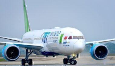 Bamboo Airways plane prague