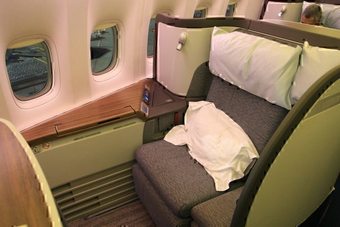 First class seat on Cathay Pacific's Boeing 777-300ER