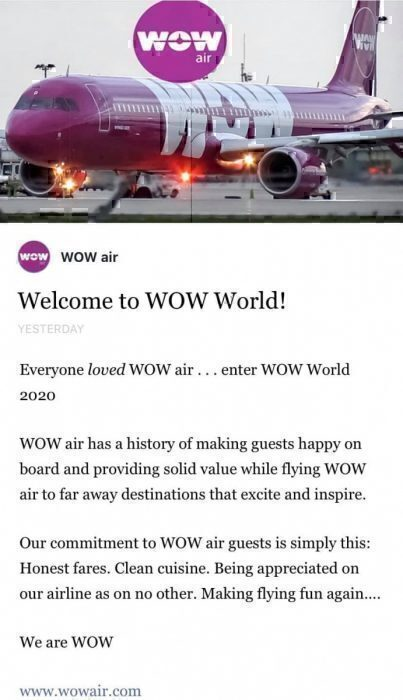 WOW Air Could Be About To Make A Sudden Comeback