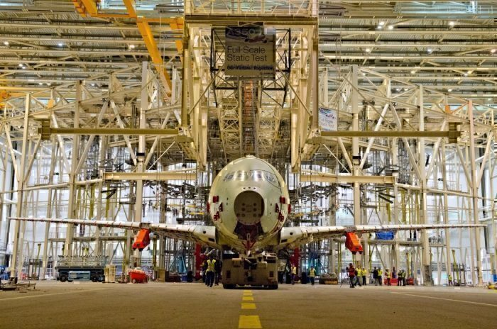 Airbus A350 static test