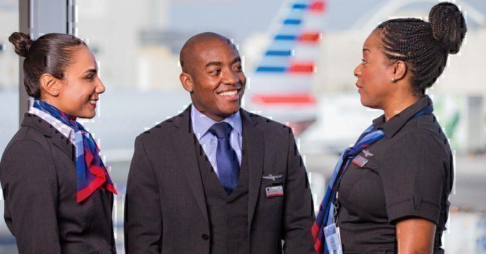 AA flight attendants