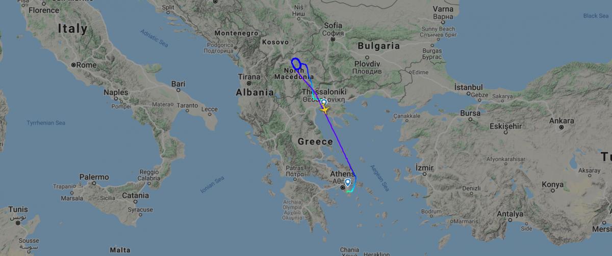 Air Mediterranean flight path Flightradar Kosovo Greece