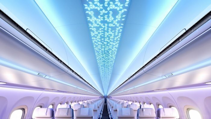 New LED lighting on Airbus A320neo
