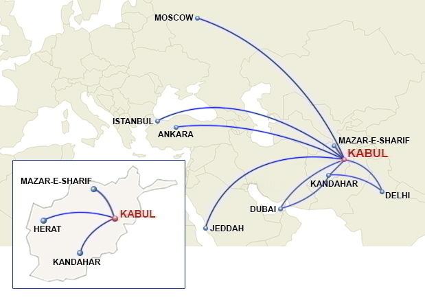 Ariana destination map