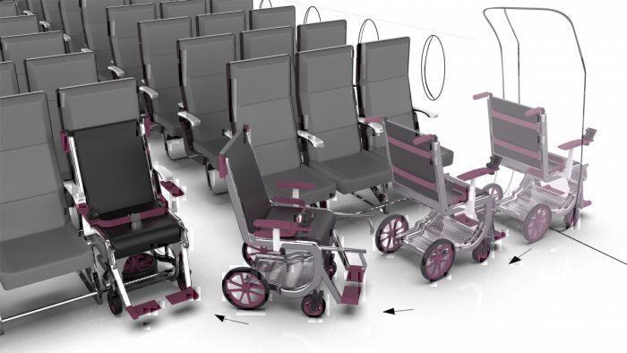 ROW 1 wheelchair seat