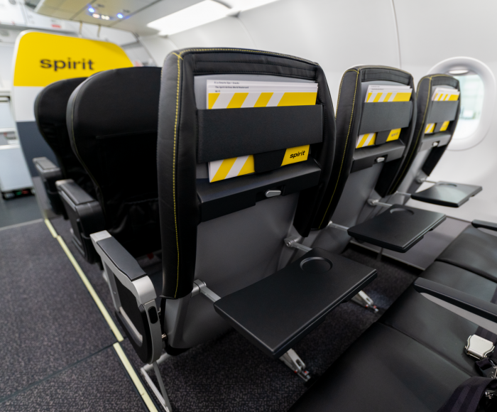 New seats on Spirit Airlines