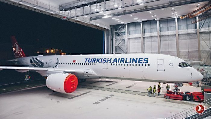 Turkish Airlines' first A350XWB