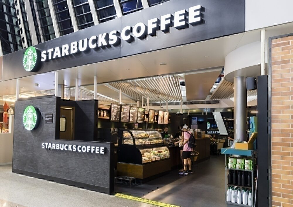 Starbucks Coffee in Airport