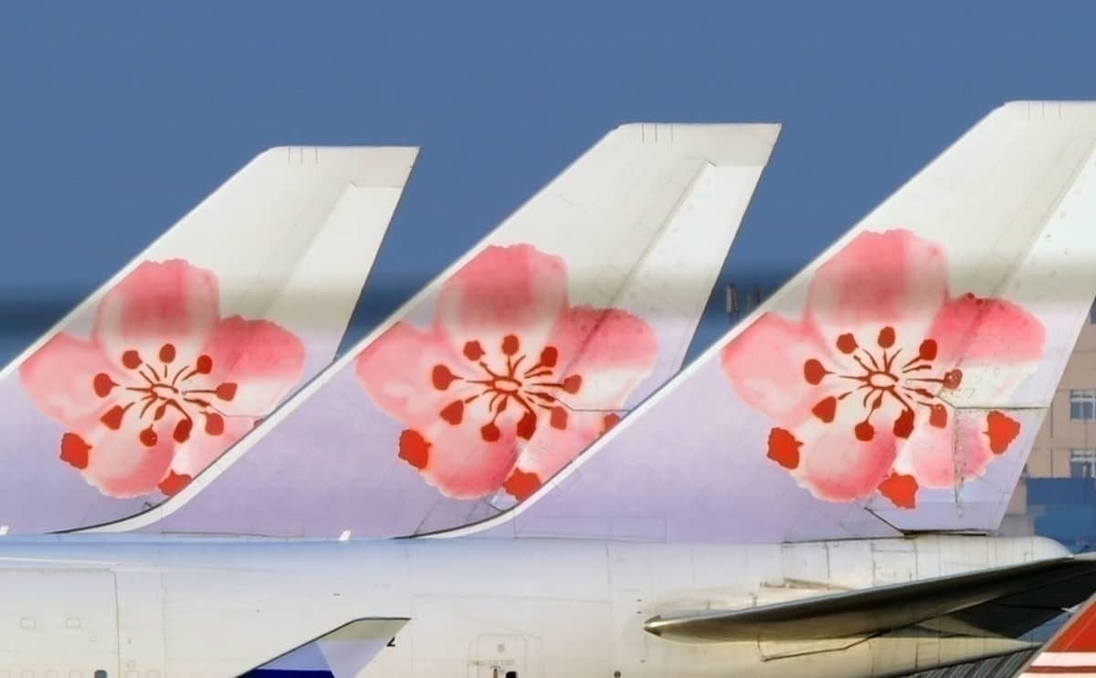 China Airlines tailfins