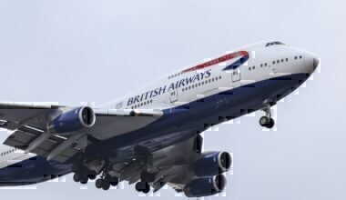 British Airways BA 747