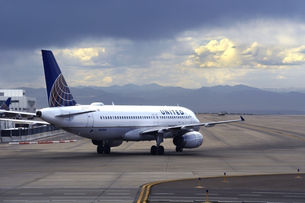 United taxiing