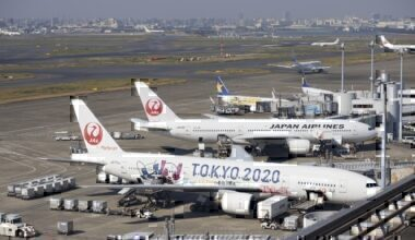 Tokyo Olympics flight paths