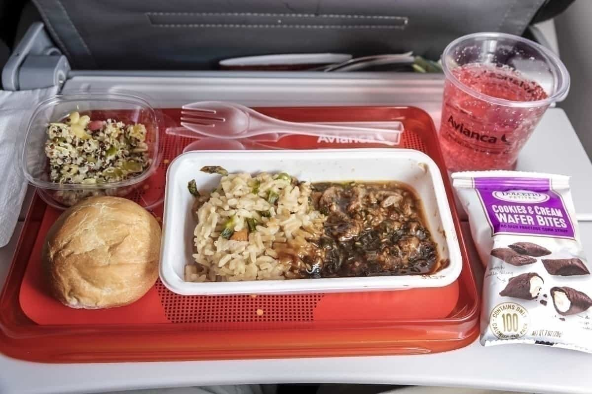 Avianca tray table