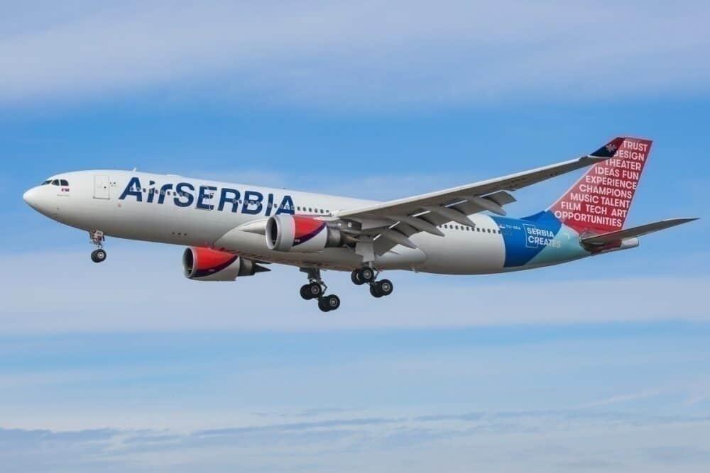 Air Serbia Airbus A330 New York JFK