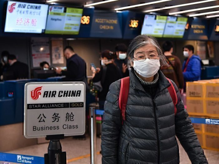 Air China, face mask