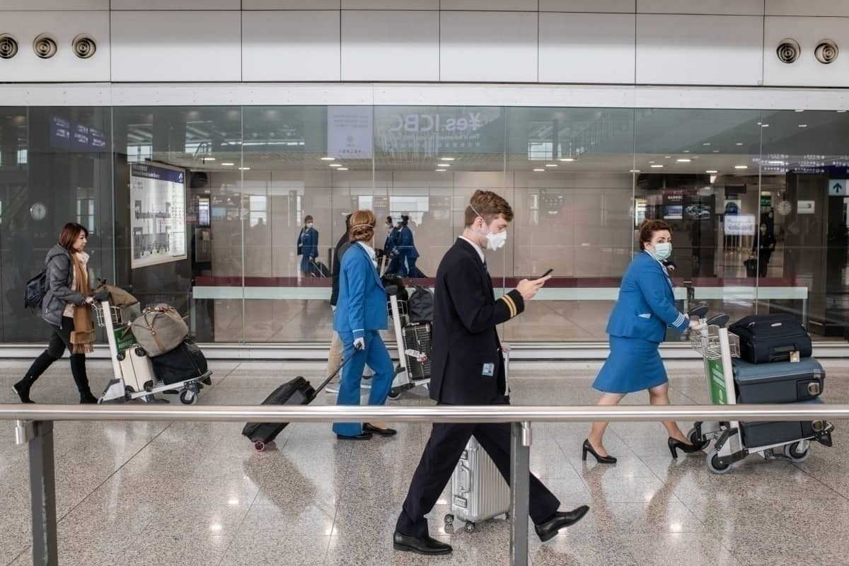 KLM staff at airport