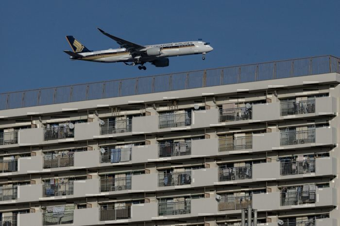 Tokyo Haneda flight path