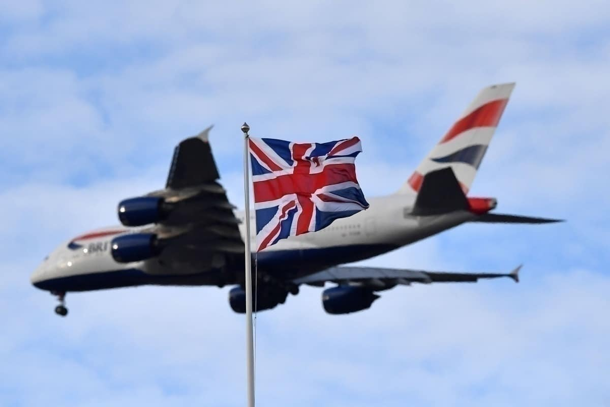 BA with UK flag