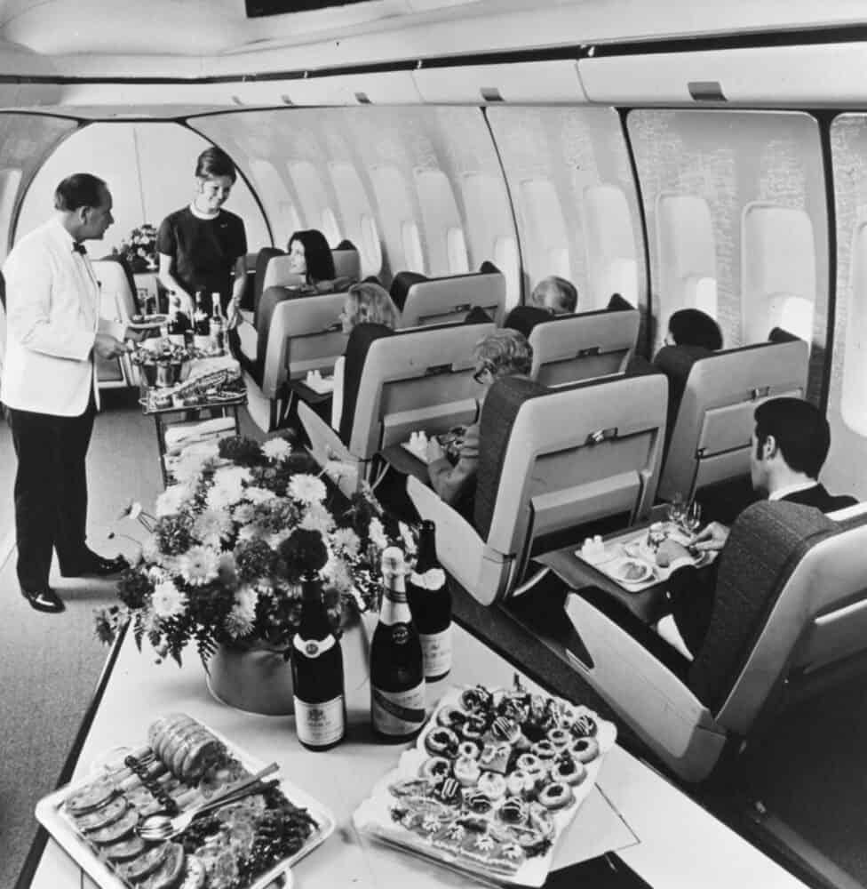 Getty BOAC first class 747 cabin