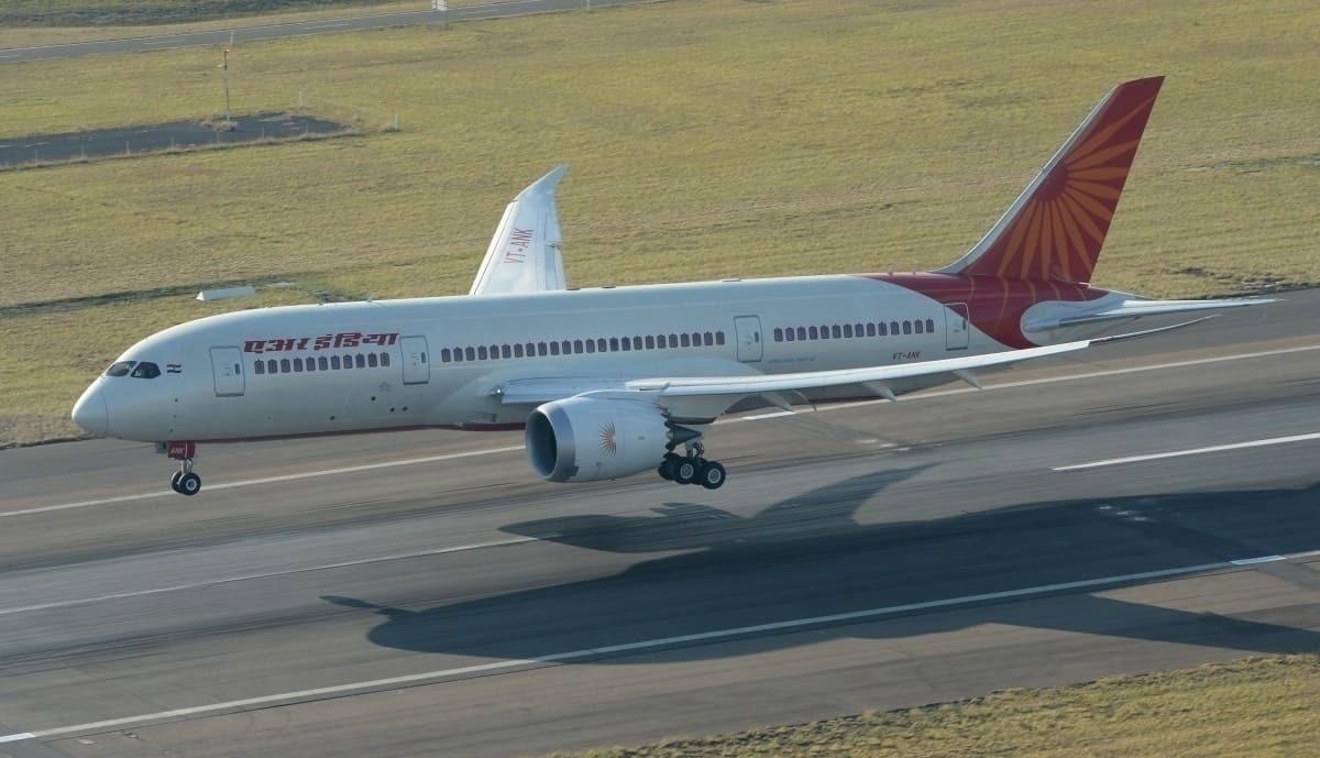 Air India runway flight