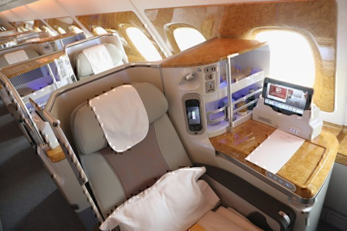 emirates business class getty images