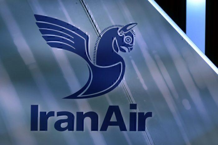 Iran Air logo on tail