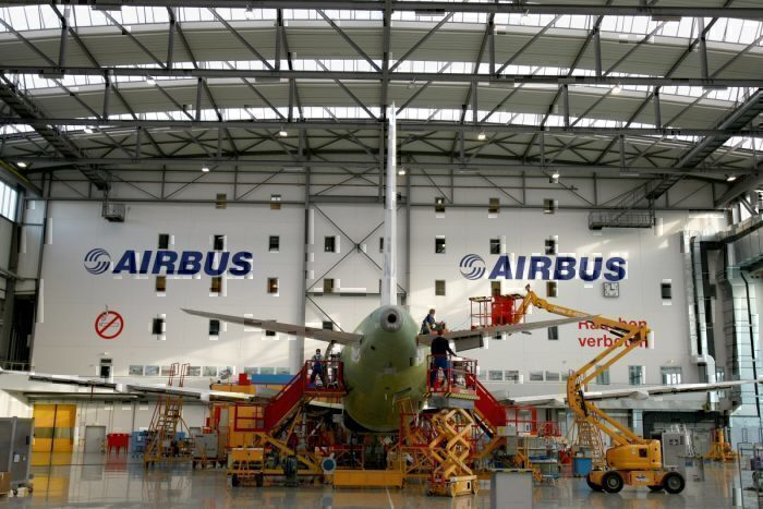 Airbus production line