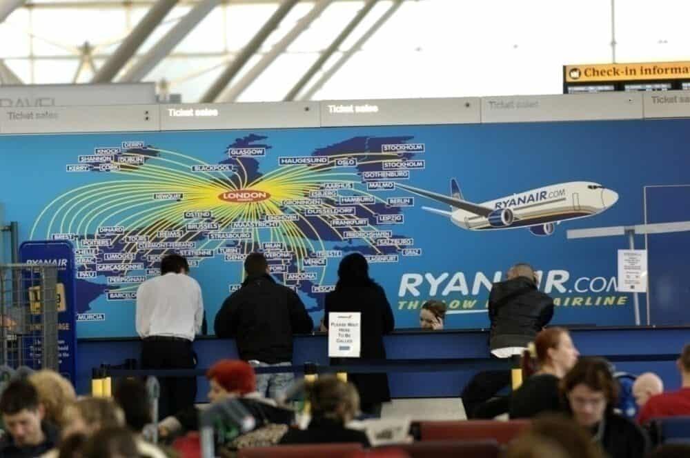 Getty Ryanair desk
