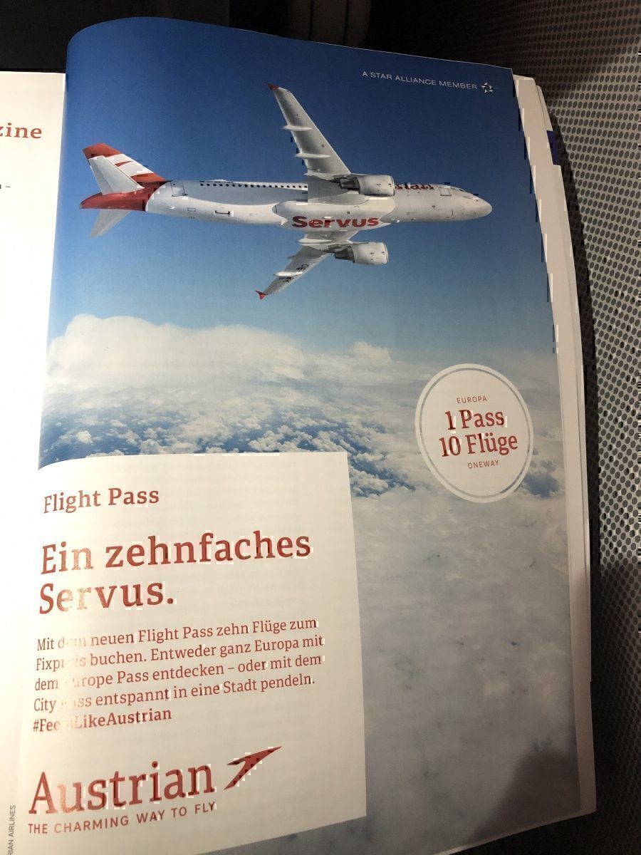 Austrian Airlines in flight magazine