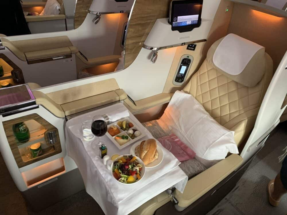 Emirates, Boeing 777, Business class