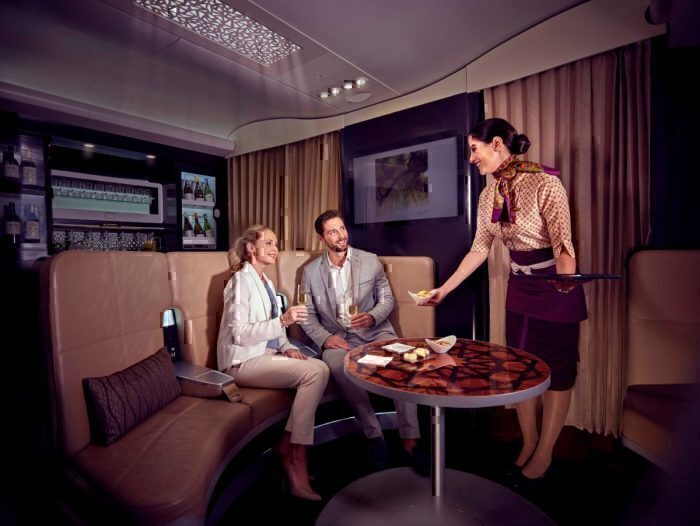 Flight Attendant helps Etihad Airways passengers