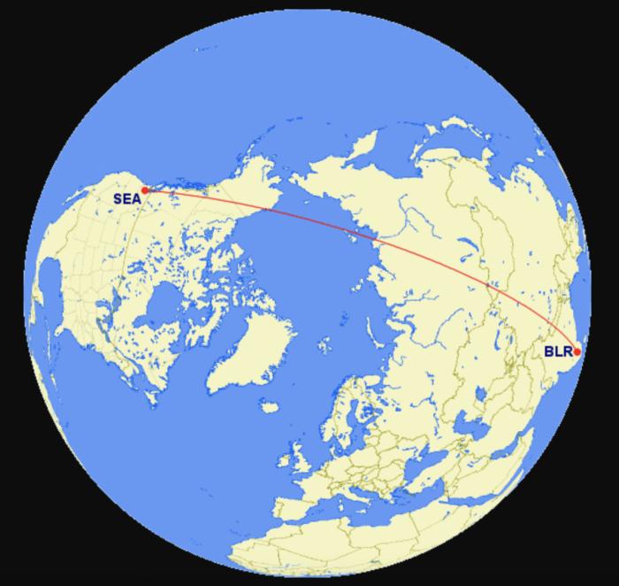 Seattle to Bengaluru