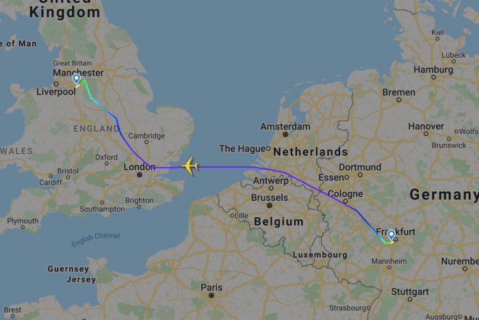 Emirates, Airbus A380, Frankfurt, Manchester