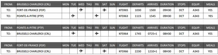 air belgium new flights caribbean