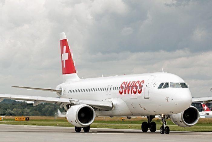 Swiss Airlines Airbus Zurich airport