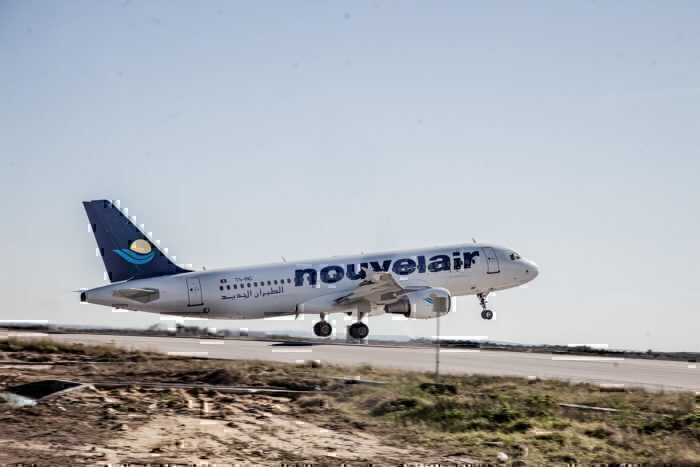 Nouvelair plane take off