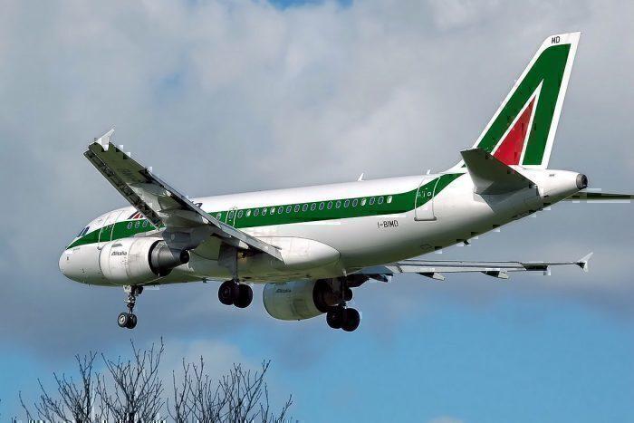 Alitalia in flight