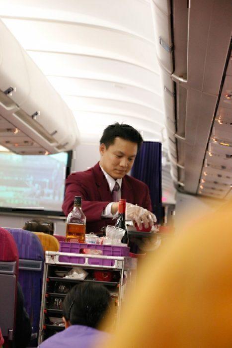 Male cabin crew member