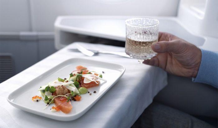 Finnair business class food