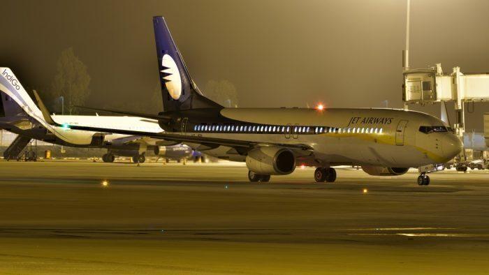 Jet Airways Boeing 737 at Bangalore
